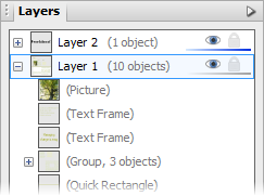 PagePlus tab layers3 Working with layers