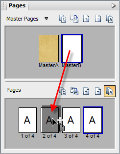 PagePlus tab pages assignmasterpage Understanding master pages