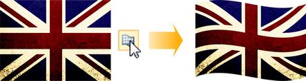 PagePlus warp2 Applying a mesh warp envelope
