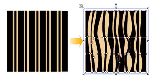 PagePlus warp4 Applying a mesh warp envelope