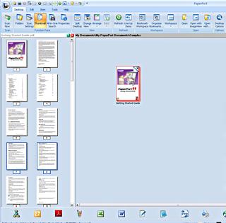 PaperPort assemble example1 Dokumente zusammenstellen – Beispiel