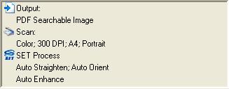 """PaperPort profile%20summary Dokumente im Bereich """"Scannen oder Foto abrufen"""" scannen"""