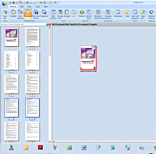 PaperPort assemble example1 Assembling documents   Example