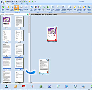 PaperPort assemble example2 Assembling documents   Example