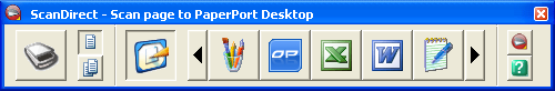 PaperPort scandir panel Starting and displaying ScanDirect
