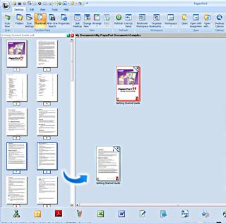 PaperPort assemble example2 Assembler des documents – exemple
