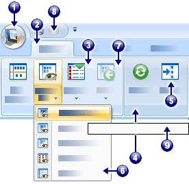 PaperPort graph ribbon Éléments de l'interface utilisateur