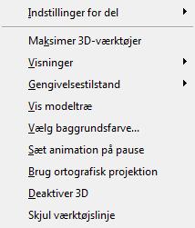 PDF Converter eng 3d right click menu 3D objektets genvejsmenu