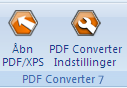 PDF Converter eng buttons open and settings Direkte konvertering