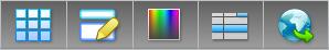 PDF Converter portfolio edit Værktøjslinjer og elementer i PDF portefølje