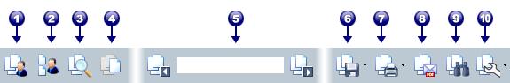 PDF Converter portfolio toolbar Værktøjslinjer og elementer i PDF portefølje