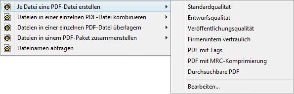 PDF Converter eng shortcut expanded Profile ändern