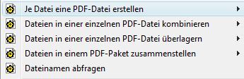 PDF Converter eng shortcut menu5 Je Datei eine PDF Datei erstellen