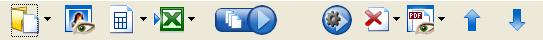 PDF Converter toolbar Die Werkzeugleiste des PDF Converter Assistenten