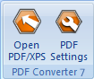 PDF Converter eng buttons open and settings Word File Open Preferences