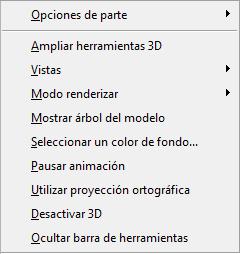 PDF Converter eng 3d right click menu Menú de acceso directo para objetos en 3D