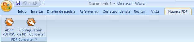 PDF Converter eng word add in converter Inicio desde Microsoft Word (botón Abrir PDF/XPS)