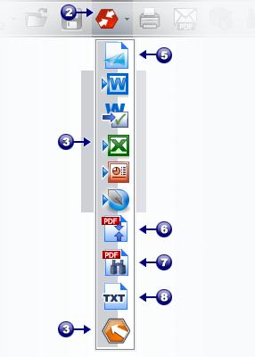 PDF Converter saveas dropdown Inicio con el botón Convertir PDF
