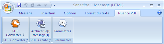 PDF Converter eng outlook add in pro Depuis Microsoft Outlook et Lotus Notes