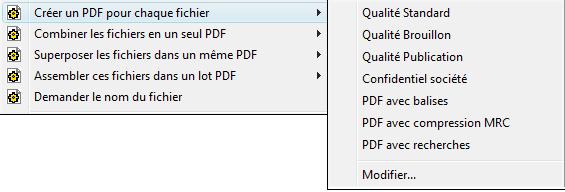 PDF Converter eng shortcut expanded Modification dun profil
