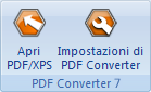 PDF Converter eng buttons open and settings Conversione diretta