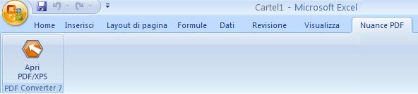 PDF Converter eng excel add in converter Avvio da Microsoft Excel