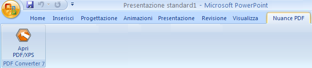 PDF Converter eng powerpoint add in converter Avvio da Microsoft PowerPoint