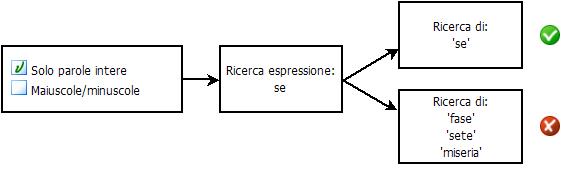 PDF Converter eng search diagram1 Selezione delle opzioni di ricerca