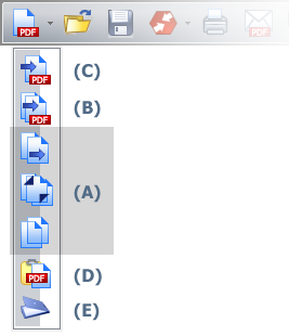 PDF Converter tb file newpdf Uso del menu File
