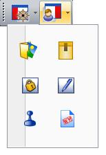 PDF Converter tb view organizer La barra degli strumenti principale