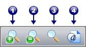 PDF Converter tb zoom La barra degli strumenti principale
