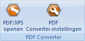 PDF Converter eng buttons open and settings Directe conversie