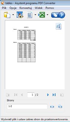 PDF Converter eng left view Widok lewego panelu