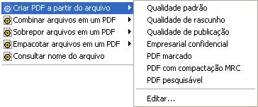 PDF Converter eng shortcut expanded Modificação de perfis