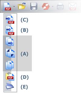 PDF Converter tb file newpdf Uso do menu Arquivo