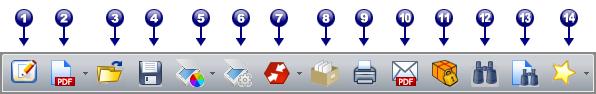 PDF Converter tb file Панель инструментов «Файл»