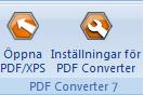 PDF Converter eng buttons open and settings Direktkonvertering