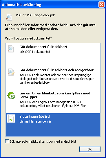 PDF Converter eng image only pdf Redigering av PDF dokument