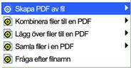 PDF Converter eng shortcut menu5 Skapa en PDF per fil