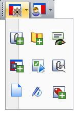 PDF Converter tb view navigation Huvudverktygsfältet