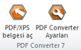 PDF Converter eng buttons open and settings Doğrudan Dönüştürme