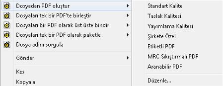 PDF Converter eng shortcut expanded Profilleri Değiştirme
