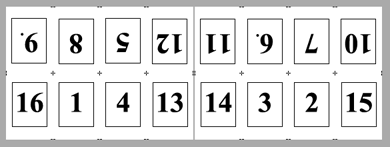 PDF Converter imposition layout1 Konumlandırma   Örnek Düzenler