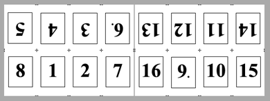 PDF Converter imposition layout2 Konumlandırma   Örnek Düzenler
