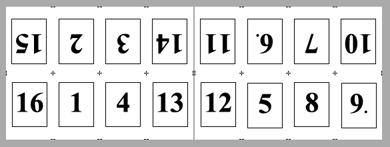 PDF Converter imposition layout3 Konumlandırma   Örnek Düzenler