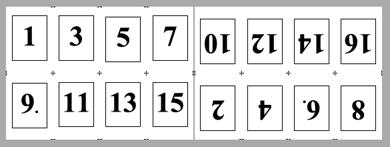 PDF Converter imposition layout4 Konumlandırma   Örnek Düzenler