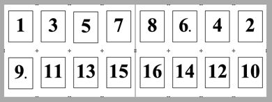 PDF Converter imposition layout5 Konumlandırma   Örnek Düzenler