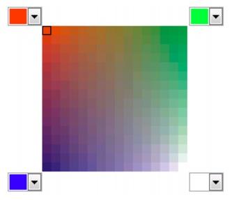 Photo Paint color blends Escolher cores