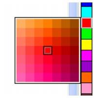 Photo Paint color popup pal Escolher cores