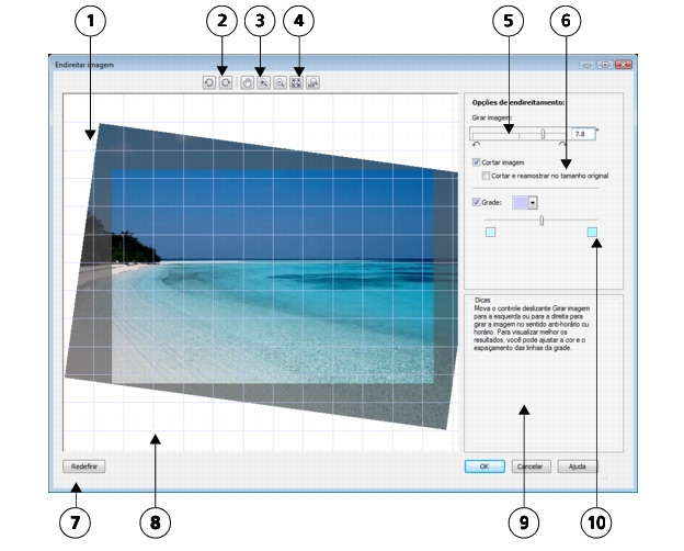 Photo Paint loc bitmaps straighten2 Endireitar imagens